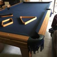 8' Oak Pool Table